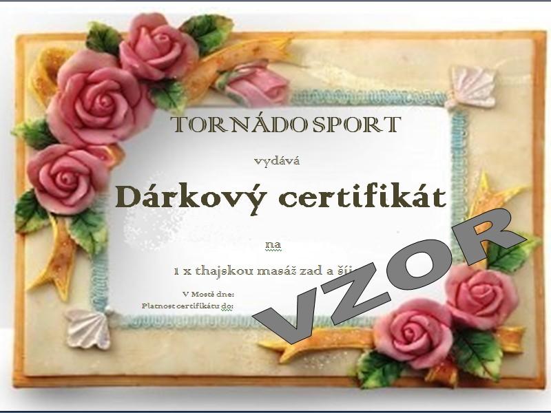 Č.2 Dárkový certifikát: Thajská masáž zad a šíje.