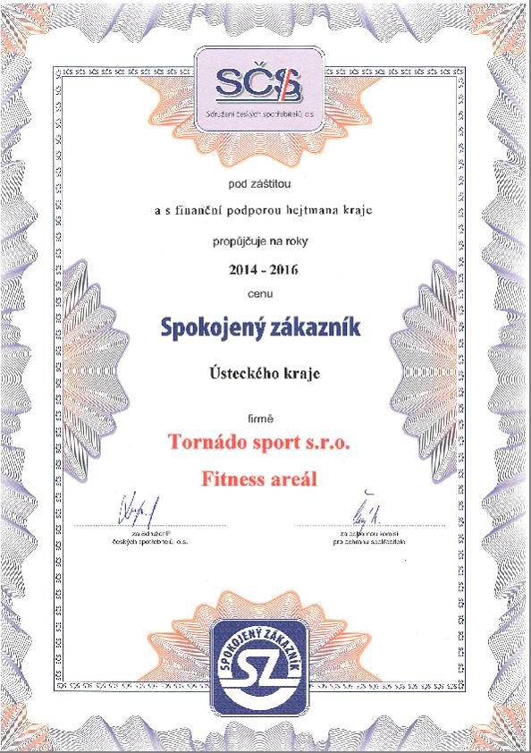 Ocenění SPOKOJENÝ ZÁKAZNÍK 2014