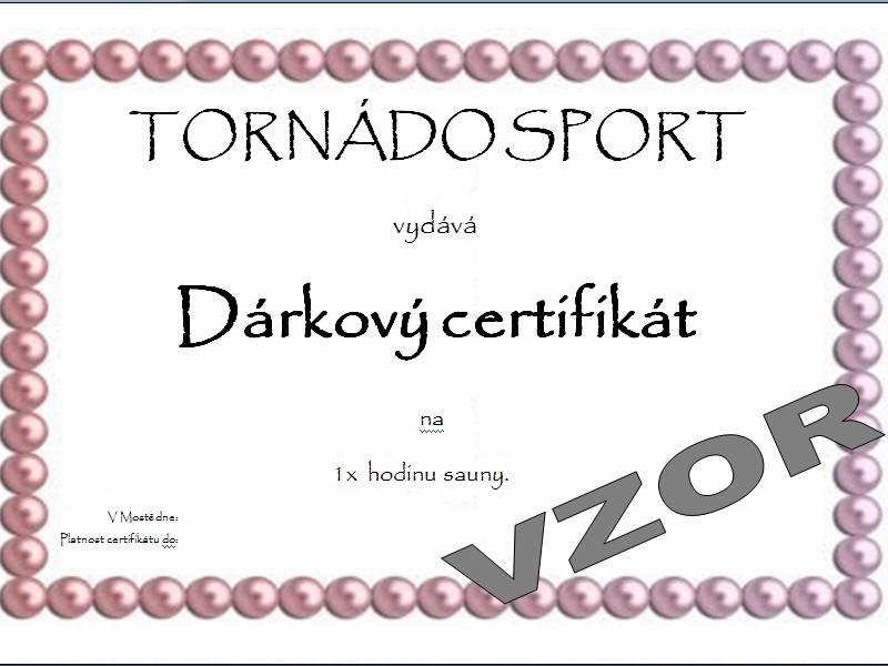 Č.3 Dárkový certifikát: Hodina sauny.